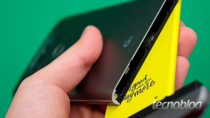LG G5 SE (Imagem: Paulo HIga/Tecnoblog)
