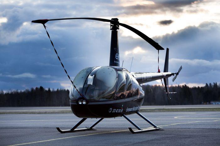 Robinson R44, modelo de helicóptero projetado para transporte executivo oferecido pela Helimarte.