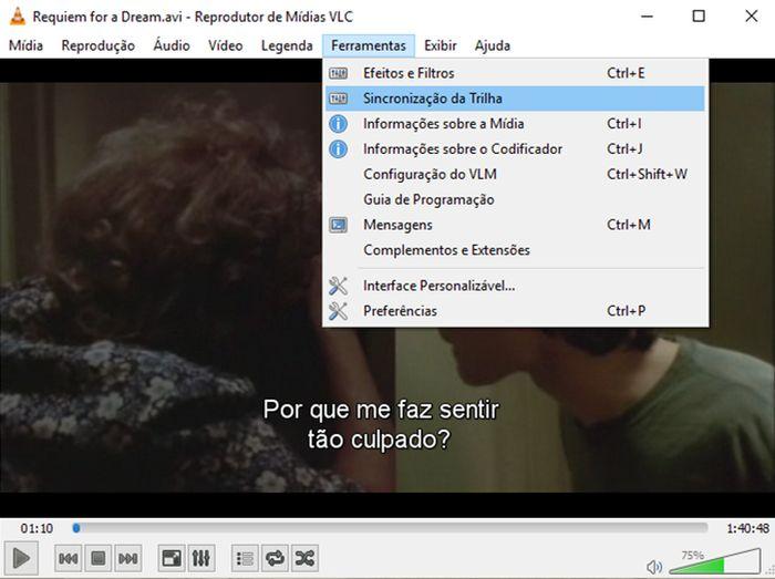 VLC - sincronização de legenda