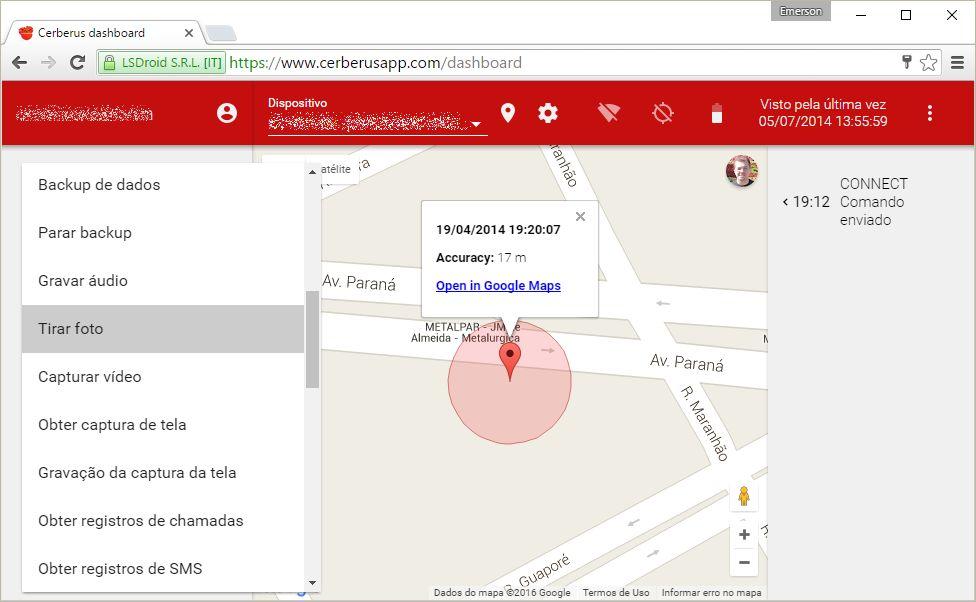 Como rastrear celular roubado com o app Cerberus