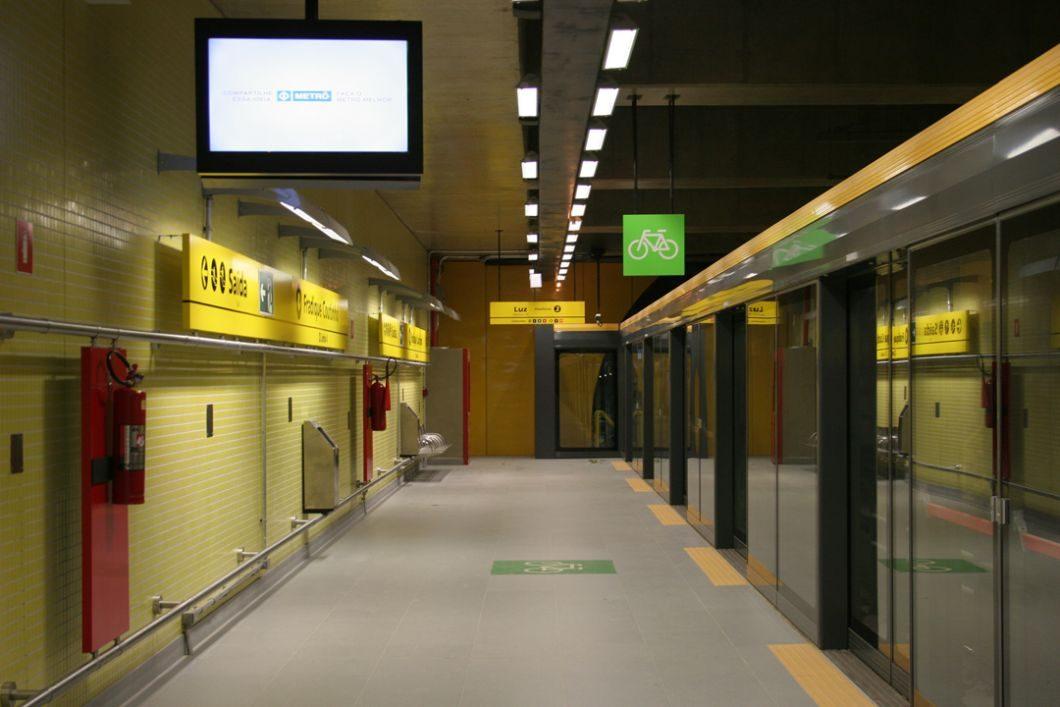Estação Fradique Coutinho da Linha 4-Amarela (Foto: Metrô de São Paulo)