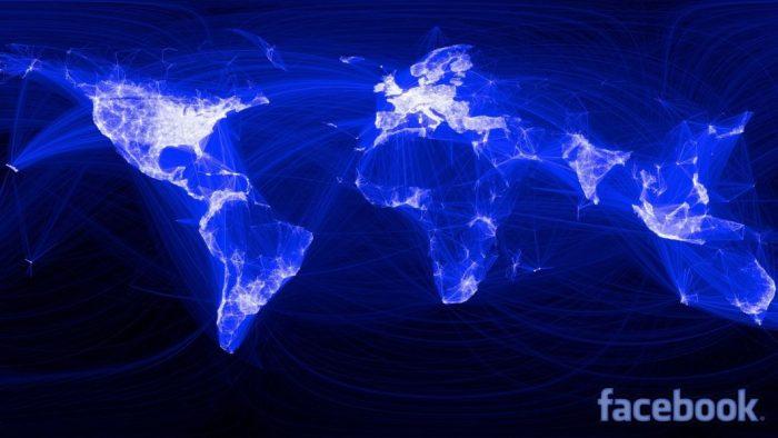 Mapa de alcance do Facebook