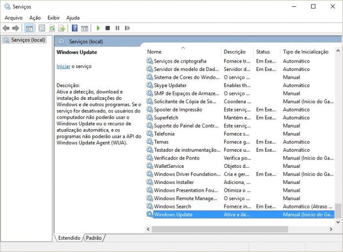 Serviços - Windows 10