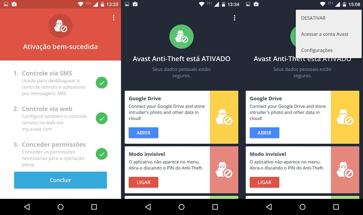 rastrear celular android avast