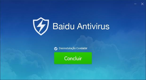 Baidu Antivirus desinstalado