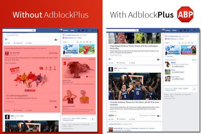 Facebook com AdBlock