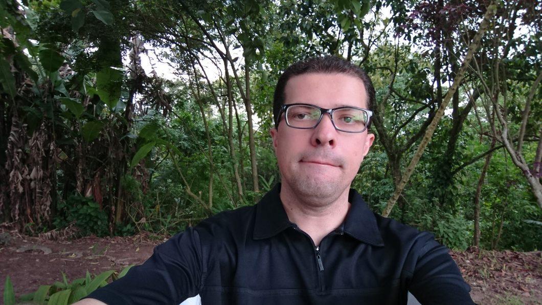 Selfie tirada com o Xperia XZ