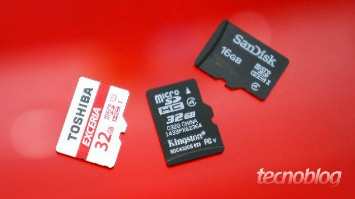Cartões microSD / cartão sd android