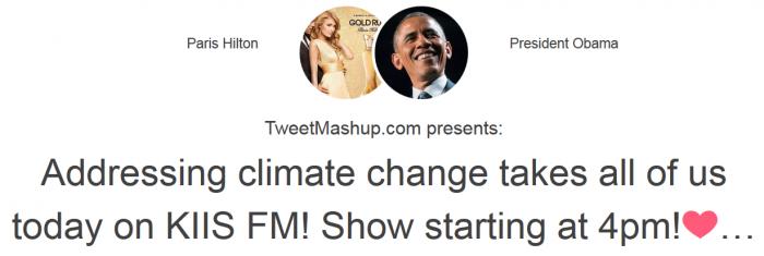 Um show sobre as alterações climáticas na KIIS FM? Por que não?
