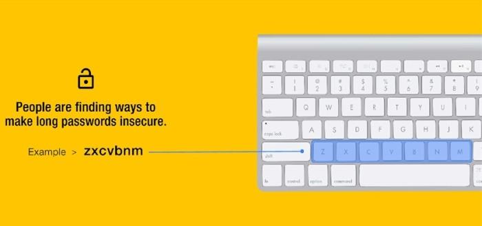 Senhas - teclado