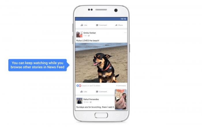 PIP no aplicativo do Facebook (Reprodução/Facebook)