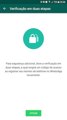WhatsApp lança recurso de verificação em duas etapas