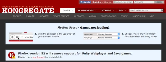 Firefox abandona plugins do Java e Unity, assim como o