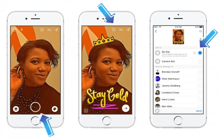 70 millones de personas están usando el clon de Snapchat en Facebook Messenger
