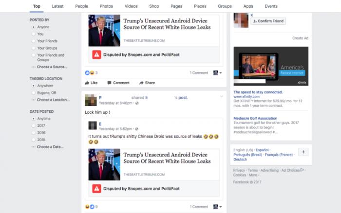 La función de alerta de noticias falsas de Facebook todavía no funciona muy bien