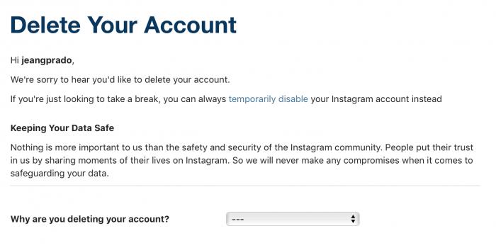 Como desativar ou excluir uma conta do instagram definitivamente alm disso se voc quiser somente esconder as fotos pode fazer isso arquivando as no entanto se voc quiser apagar mesmo o seu perfil o processo bem ccuart Images