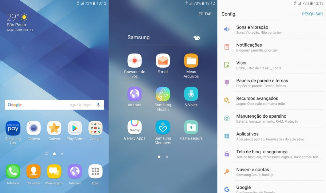 Galaxy A7 2017 - software