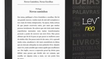 Lev Neo e Lev Fit são os novos leitores de ebooks da Saraiva