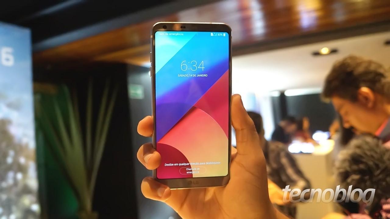 Uma olhada no LG G6  tela ampla 8b97a4ce52ae