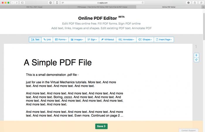 3 sitios para editar documentos PDF en línea 1