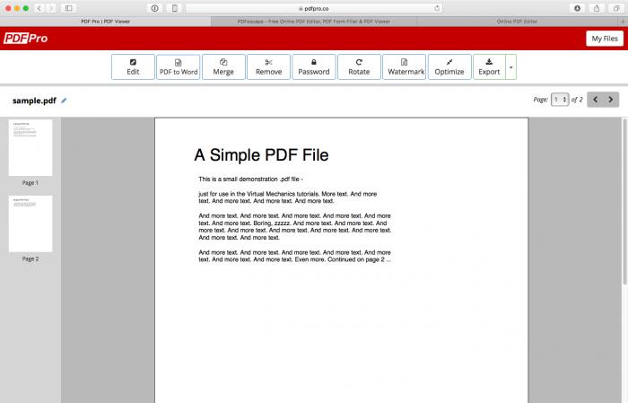 3 sitios para editar documentos PDF en línea 3