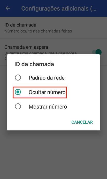 Como ligar privado no Android