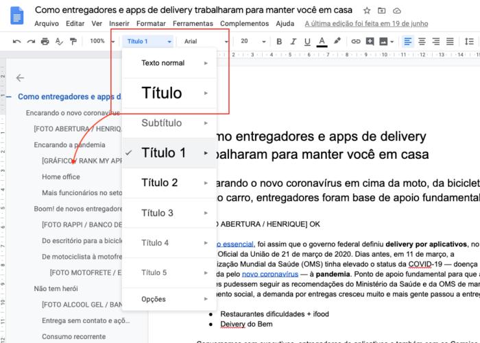 Como fazer sumário ABNT no Google Docs