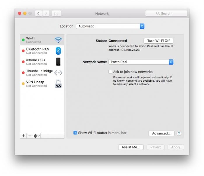 macOS / mudar DNS / o servidor dns não está respondendo