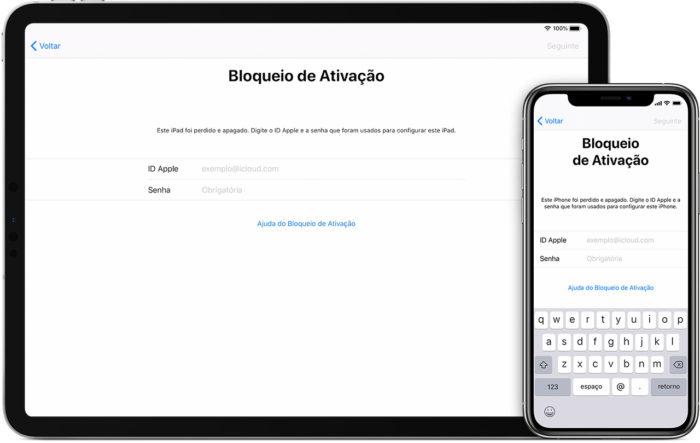 Bloqueio de Ativação dos dispositivos Apple