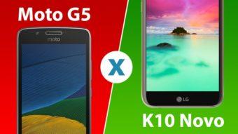 Comparativo: Moto G5 ou LG K10 Novo, qual é melhor?