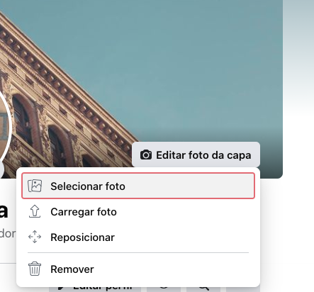 mudar capa facebook pelo navegador