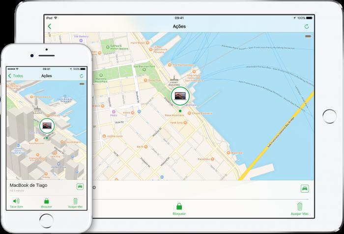 Buscar meu iPhone permite encontrar smartphone perdido (Imagem: Reprodução/Apple)