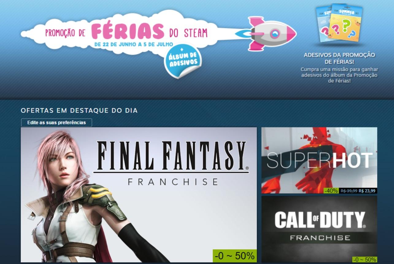 Promoção de férias do Steam tem dez mil jogos com desconto