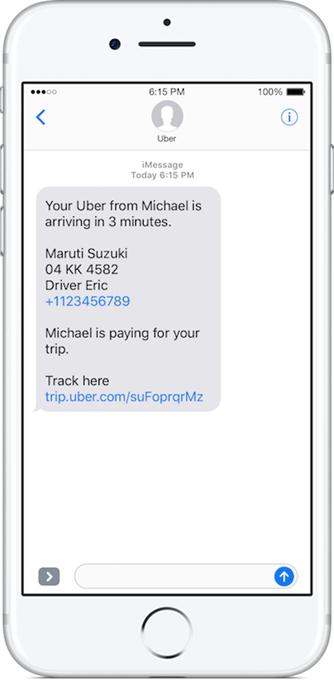 Uber - SMS