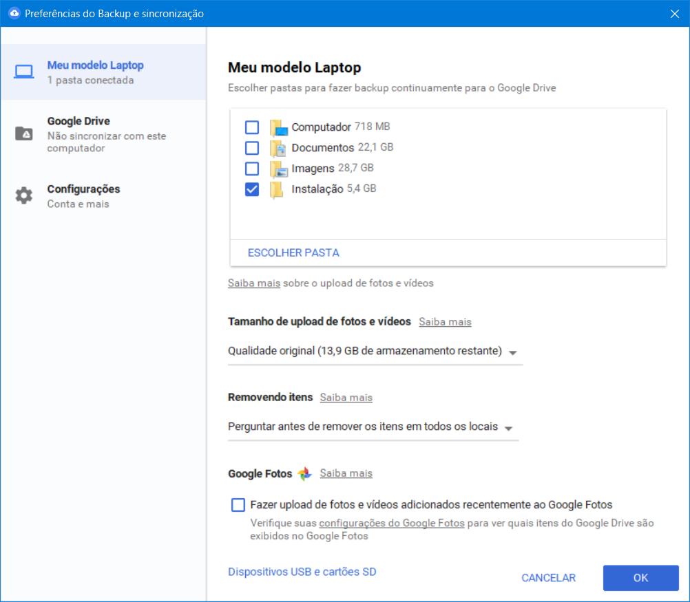 Como usar o Google Drive para fazer backup do PC inteiro