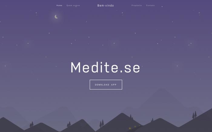 aplicativo de meditação medite.se/reprodução