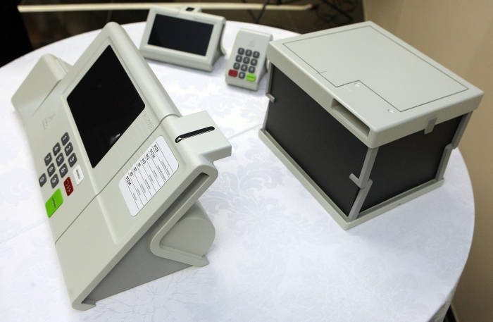 Apresentação de protótipo da urna eletrônica