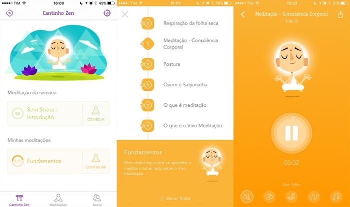interface vivo meditação