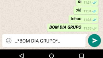 Formatar texto no WhatsApp ficou mais fácil
