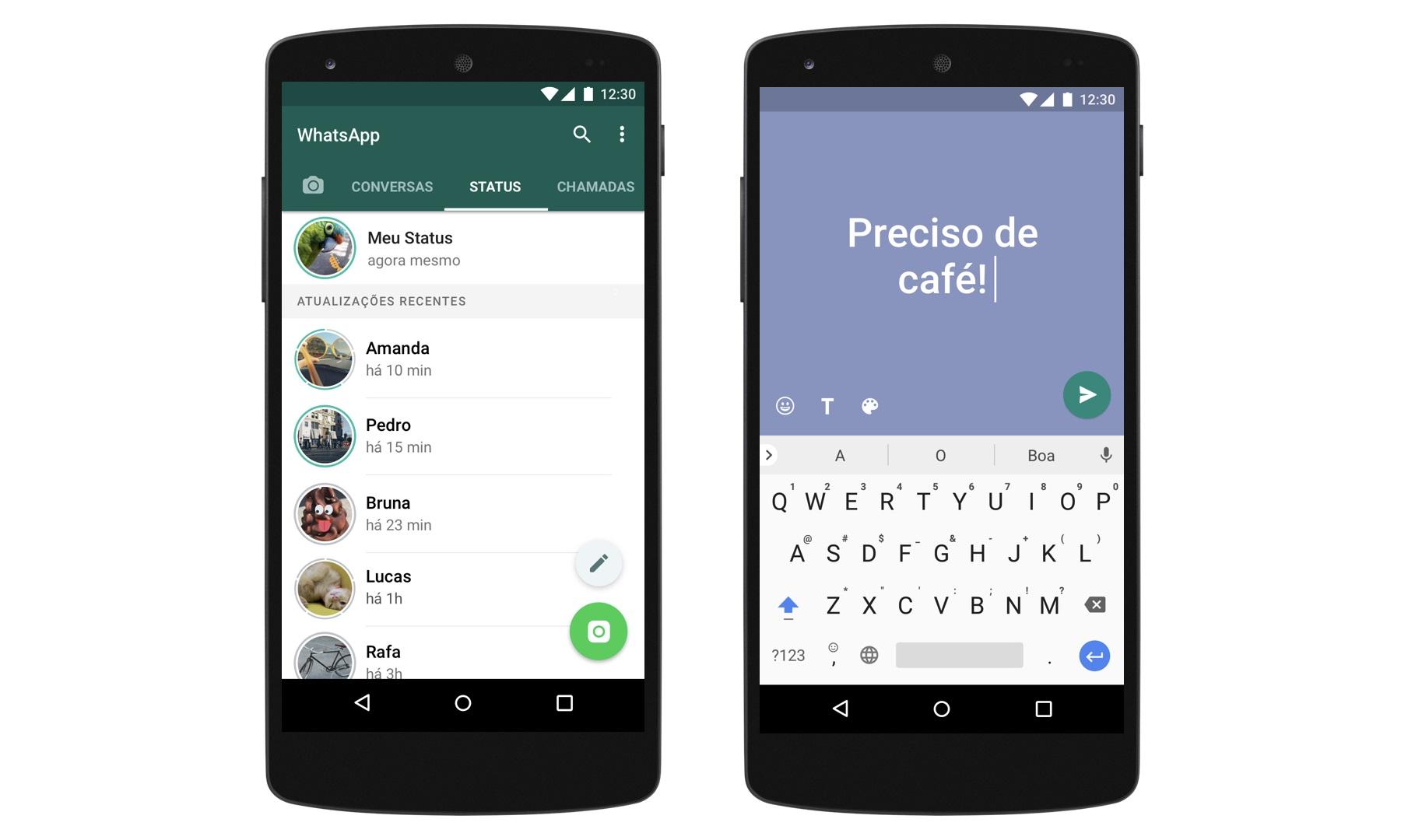 Whatsapp Status Ganha Mensagens Coloridas Em Texto