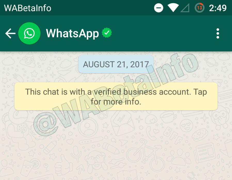 WhatsApp adiciona contas verificadas para contas comerciais