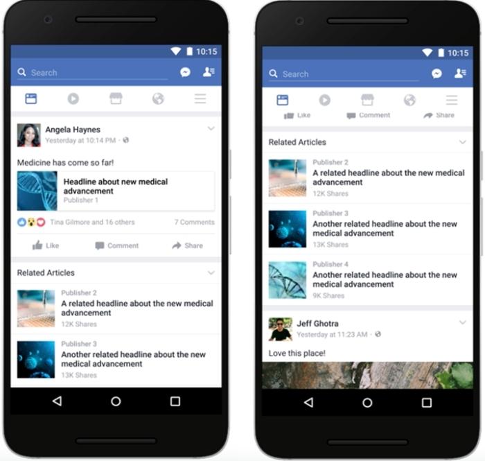 Facebook - artigos relacionados