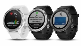 Garmin Vivoactive 3 é um smartwatch com bateria que dura uma semana