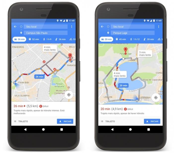 Google Maps - estacionamento no Brasil