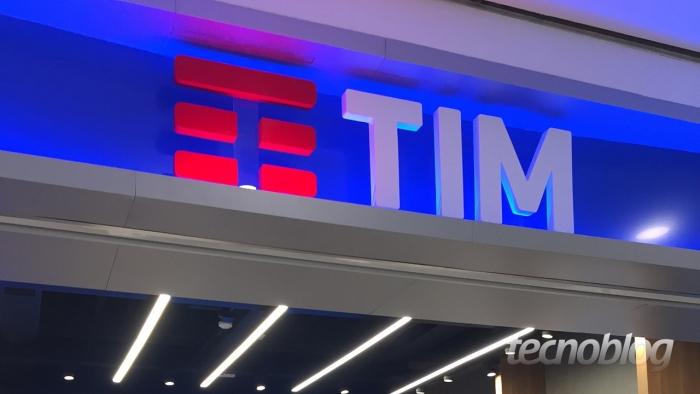 Fachada de loja TIM