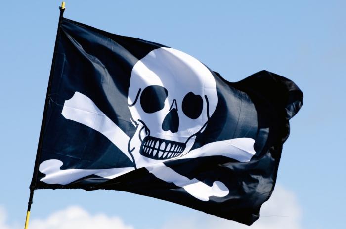 Bandeira pirata (Por Public Domain Pictures)