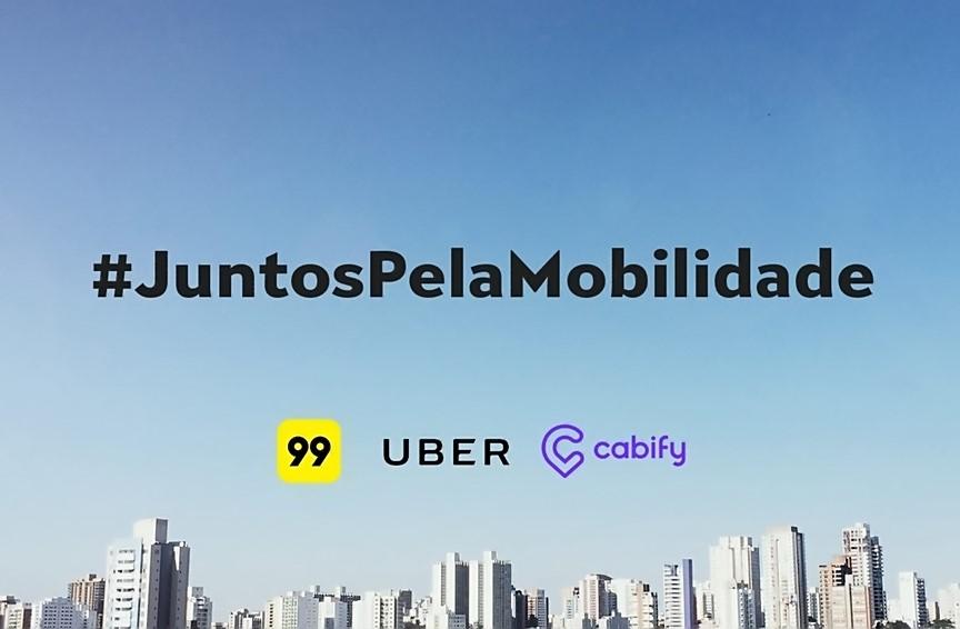 Resultado de imagem para Uber, Cabify e 99
