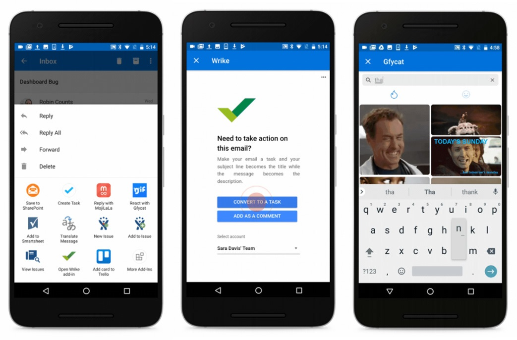 how to add folders outlook android