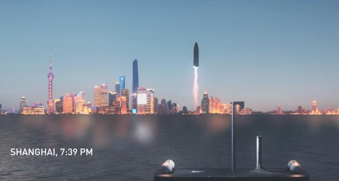 SpaceX quiere usar cohetes de media hora para viajes intercontinentales