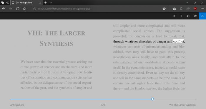 O Edge agora lê em voz alta páginas, PDFs e EPUBs